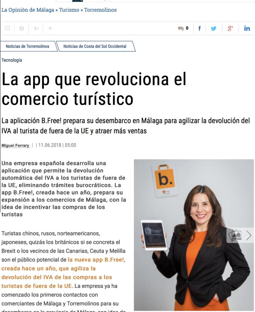 """<a href=""""https://www.laopiniondemalaga.es/turismo/2018/06/11/app-revoluciona-comercio-turistico/1012811.html"""" target=""""_blank"""" rel=""""noopener noreferrer""""><b>La app que revoluciona el comercio turísitico</b></a>"""