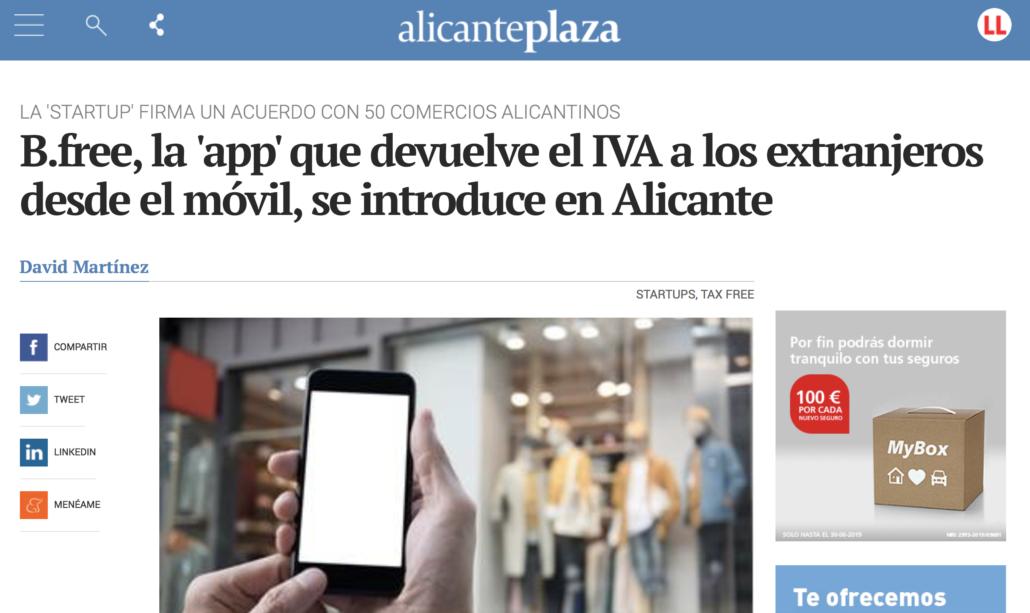"""<a href=""""https://alicanteplaza.es/bfree-la-app-que-devuelve-el-iva-a-los-extranjeros-desde-el-movil-se-introduce-en-alicante"""" target=""""_blank"""" rel=""""noopener noreferrer""""><b>B.free llega a Alicante</b></a>"""